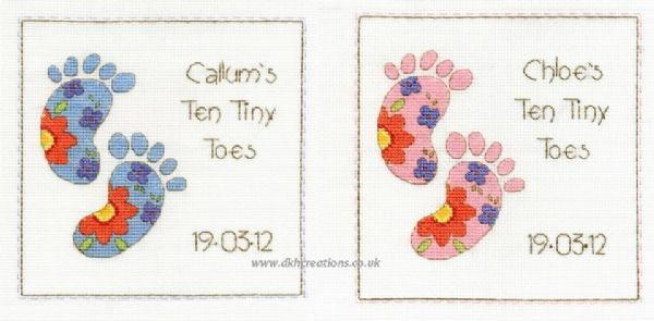 Ten Tiny Toes Sampler Cross Stitch Kit
